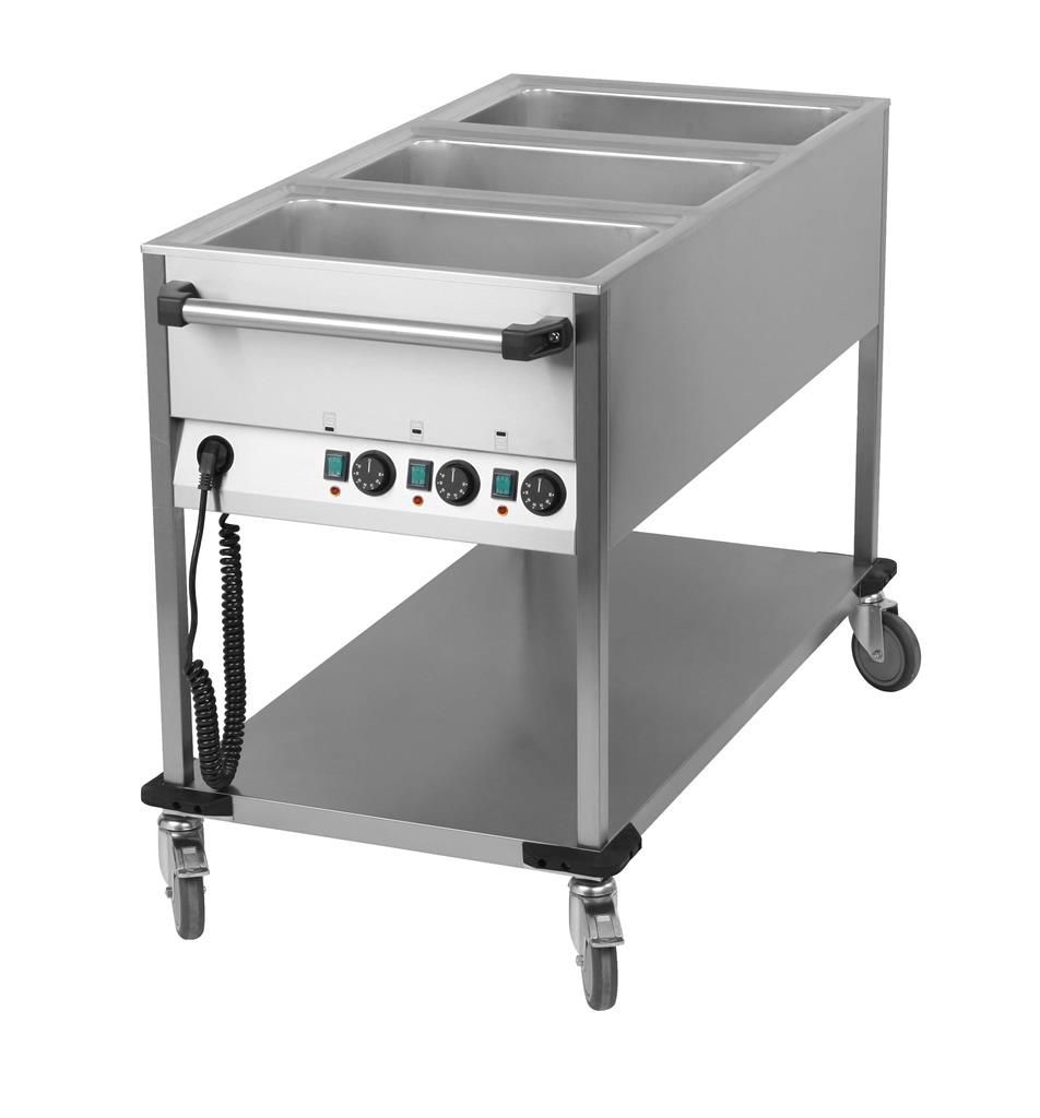 Chariot bain-marie 3 x 1/1 GN