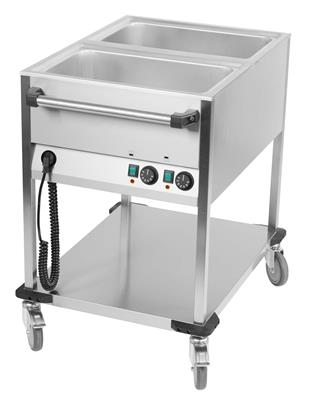 Chariot bain-marie 2 x 1/1 GN